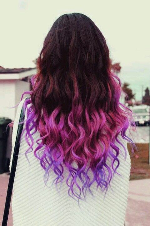 Awesome dip-dyed hair.