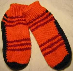 Pruhované ponožky   RUČNÍ PLETENÍ - NÁVODY ZDARMA