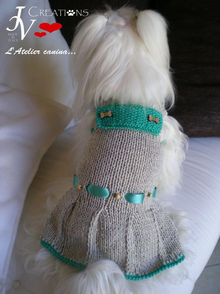 Dress Wild - Abbigliamento a quattro zampe - Cute college style dress in Alpaca and cotton