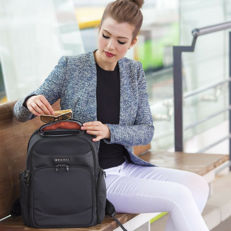 """Everki intuitive design Suite Premium Compact Laptop Backpack that fits up to 14"""" laptop. @everki #design #lifestylestore #premium #laptop #backpack #technology #rfid https://goo.gl/PfEbLa"""