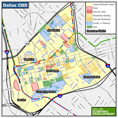 map of uptown dallas