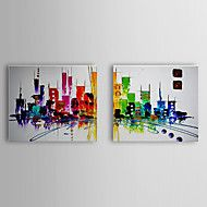 Oil Painting Abstract Cityscape Set of 2 1307-AB0... – AUD $ 78.71