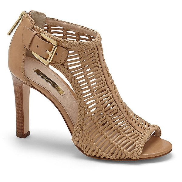 Vince Camuto Louise Et Cie Sheree - Woven Cutout High Heel Sandal featuring polyvore, fashion, shoes, sandals, heels, polish shoes, animal print shoes, high heel sandals, woven sandals and golden sandals