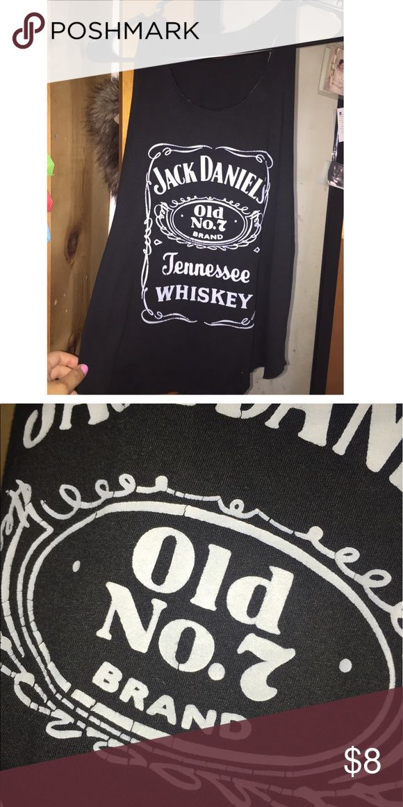 Jack Daniels tank top Good condition, size Small-medium. Great for the summer. There are some signs of cracking in the lettering but otherwise no other flaws. Tops Tank Tops