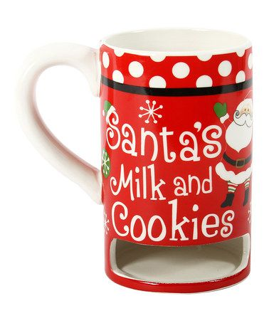 Take a look at this Red Polka Dot 'Milk & Cookies' Mug by Dennis East International on #zulily today!