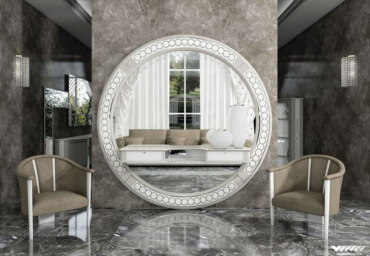 #vismaradesign big #mirror #erable rings to enhance your #livingroom.  #madeinitaly #handmade #luxury