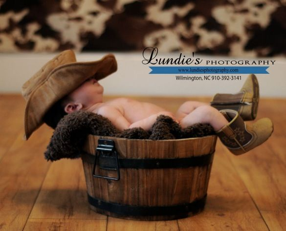 Great infant picture idea for a boy!