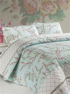 Birdcage kétszemélyes steppelt ágytakaró szett