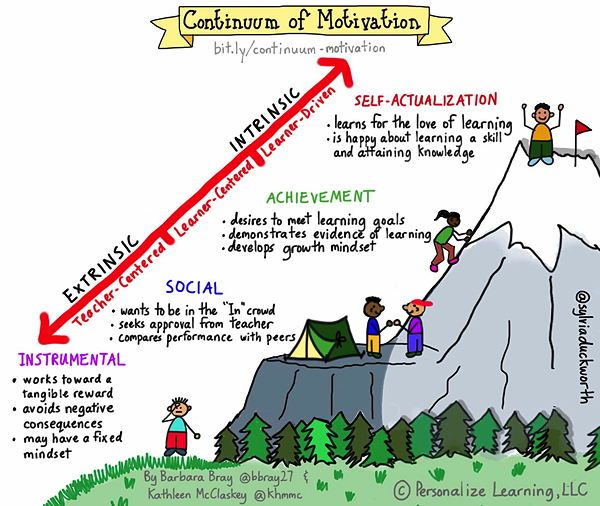 Personalize Learning: Continuum of Motivation: Moving from Extrinsic to Intrinsic