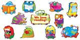 """Checkout the """"Reading Monsters Bulletin Board Set"""" product"""