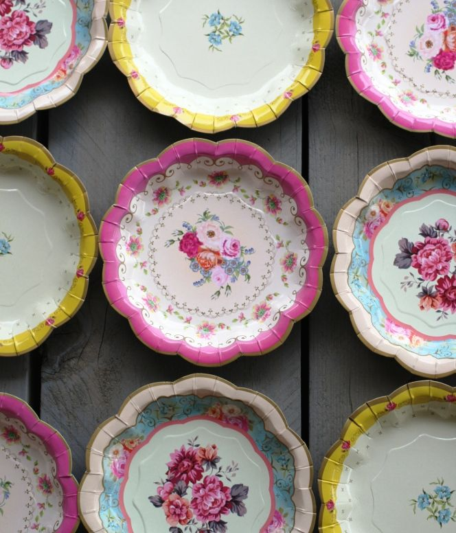 Paper plates Old English Style   tedtaste.nl