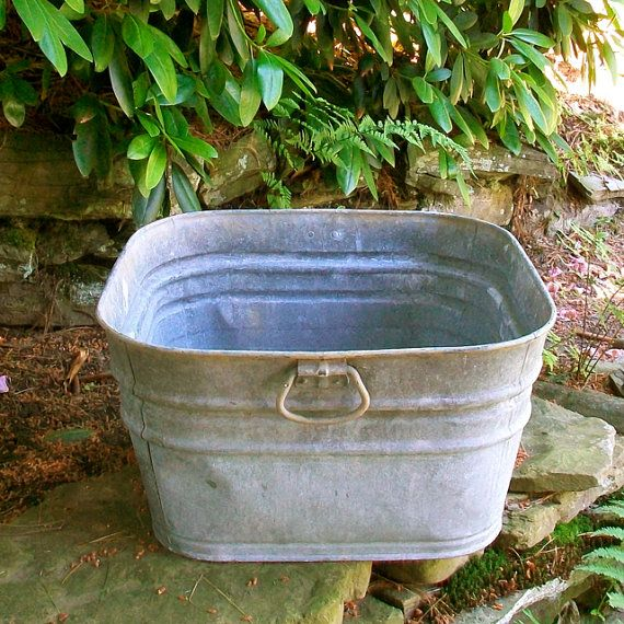 Large Wash Tub : Large Galvanized Metal Wash Tub Wash tubs, Tubs and Galvanized metal