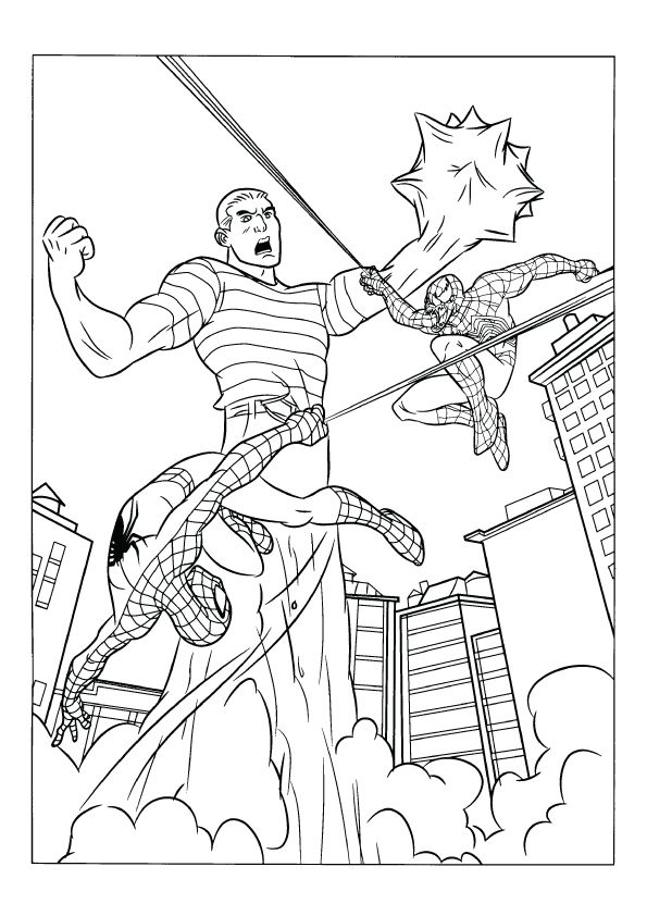 Coloring Page Spiderman Coloring Coloring Pages