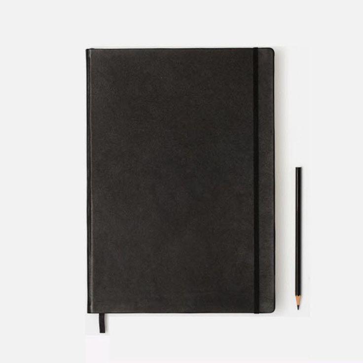 Ægte læder! Måske den flotteste notesbog du kan opdrive i Danmark!