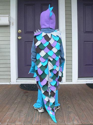 Jenny: Rainbow Lizard Costume | by Stumbles & Stitches