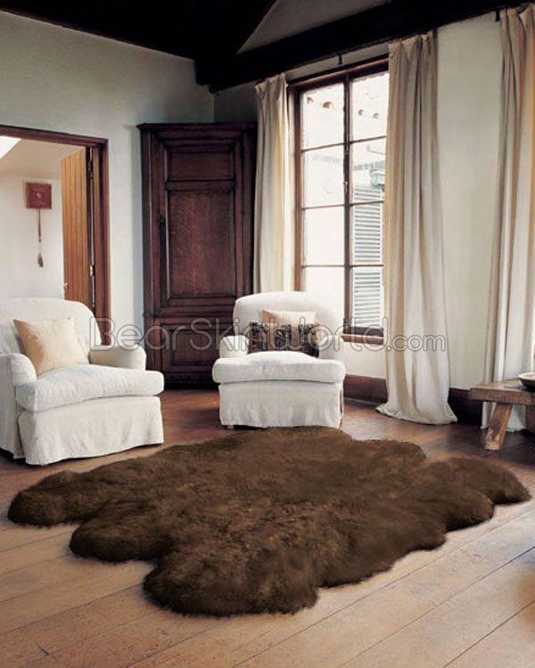 17 best images about sheepskin rug on pinterest shag rugs plush and white faux fur rug. Black Bedroom Furniture Sets. Home Design Ideas