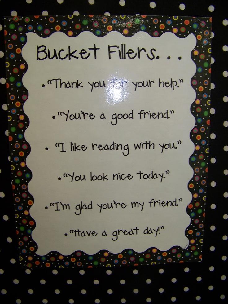 bucket filler ideas