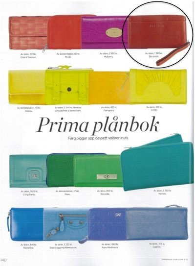 As seen in Damernas (DK) - Page 140: The Decadent wallet