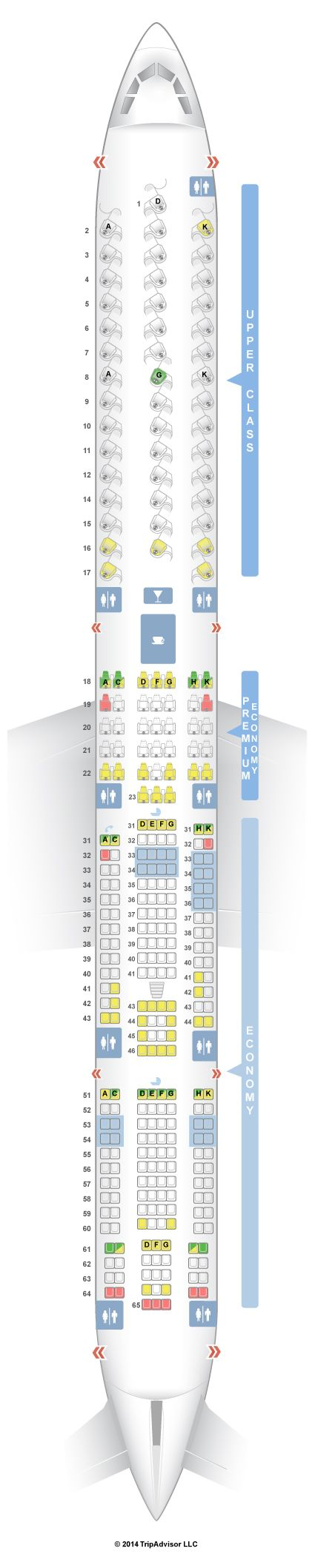 SeatGuru Seat Map Virgin Atlantic Airbus A340-600 (346)