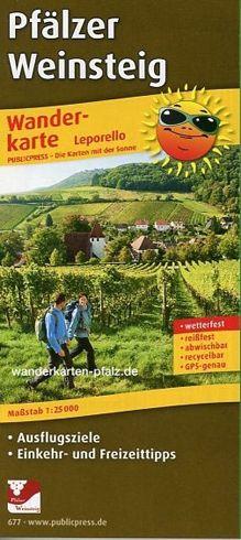 Pfälzer Weinsteig Wanderkarte 1:25.000