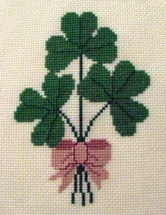 Shamrock Bouquet Cross Stitch Pattern by BonnieThistleDesigns, $7.00