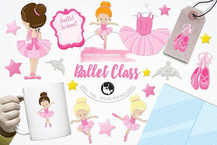 Ballet Class  graphics and illustrations