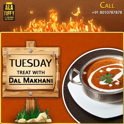 Enjoy the most characteristic signature dish of Punjab: Dal Makhani from Alatiffy. Call +91-801078787 to order now. #Alatiffy #GharKaKhana #Onlinefood #Tiffin #Service #HomeMade #Food