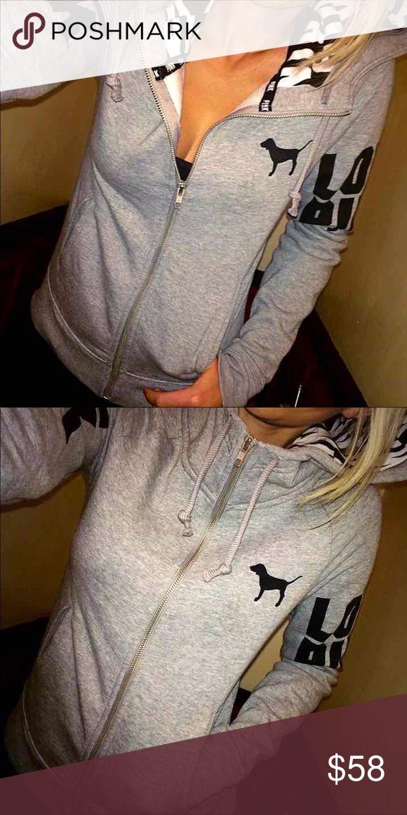 M gorgeous hoodie Excellent condition PINK Victoria's Secret Sweaters Cardigans