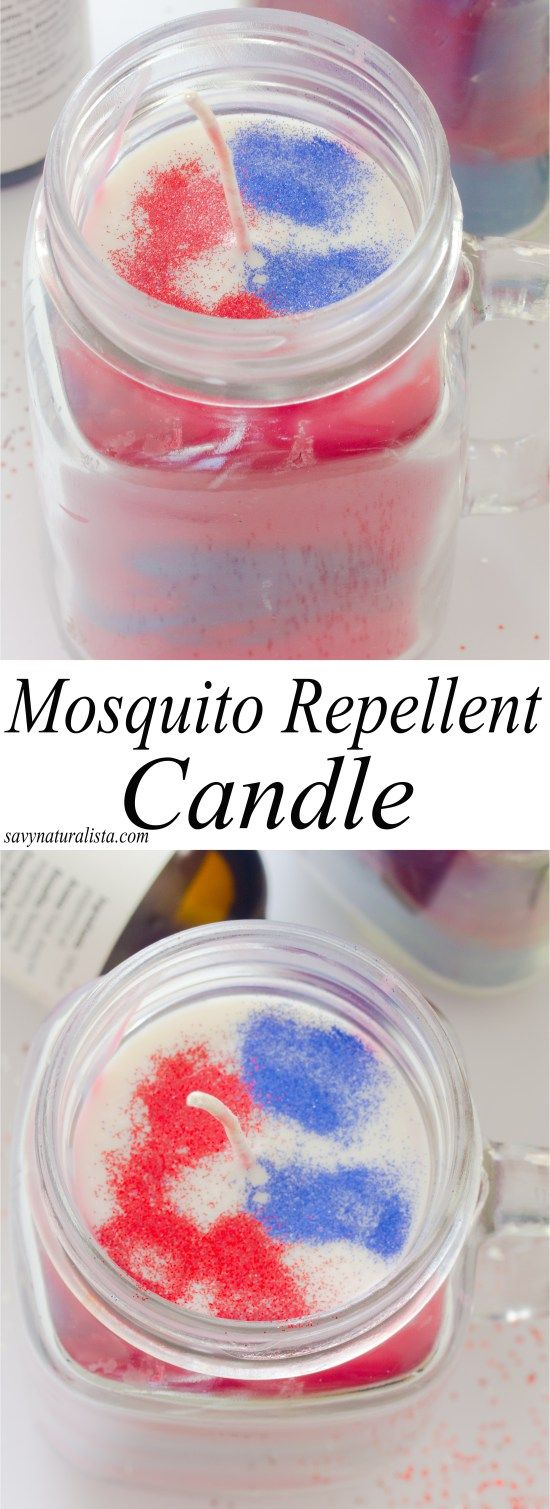 Here is a festive all natural mosquito repellent candles. With only four simple ingredients that you can make yourself; keep those mosquitoes away this outdoor season with all natural handmade candles.