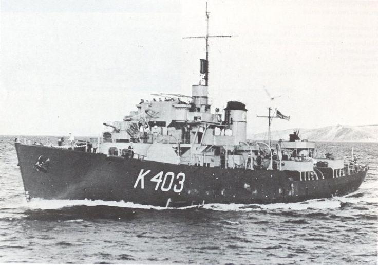 HMNZS Arbutus. Flower class corvette