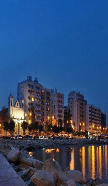 Night panorama of Limassol, Cyprus