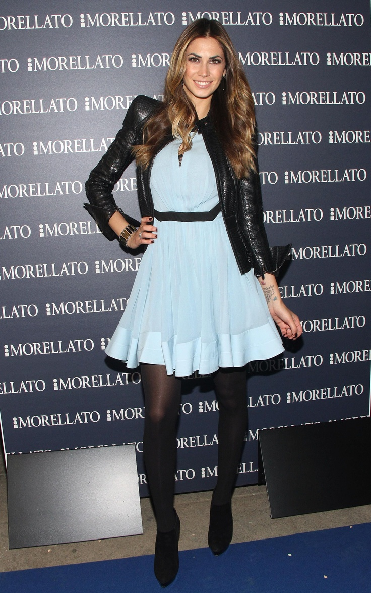 The beautiful Melissa Satta wore a #JustCavalli dress with ...