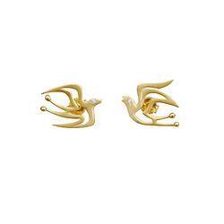 Hope Birds - gold plated studs my-precious.com