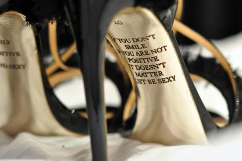 for inspiration, just look under your heel ;)