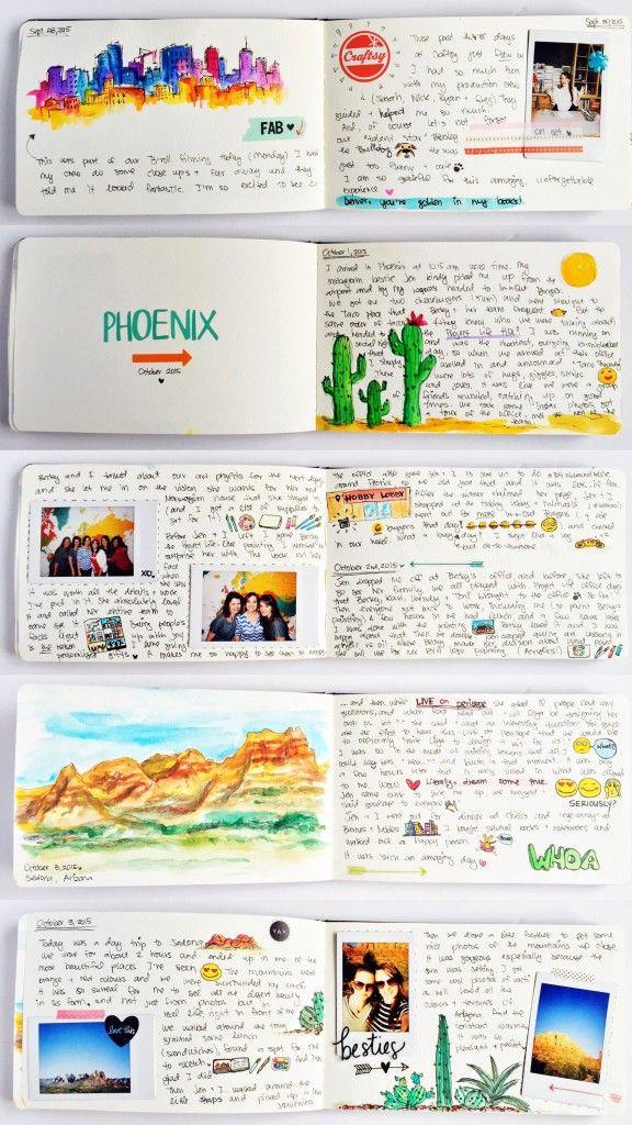 Travel sketchbook // OlyaSchmidt.com