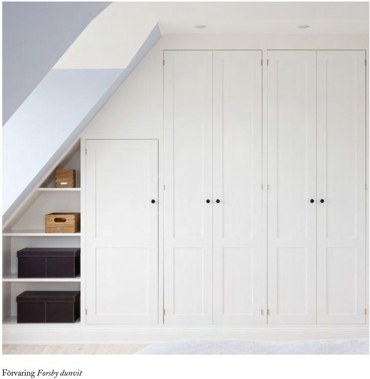 Kvänum Forsby förvaring/garderob, snedtak, inbyggd, dressingroom, walk in closet, WIC.