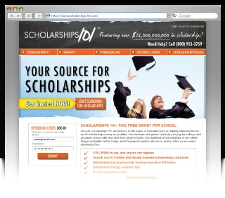 Scholarships101.com is a search engine that allows you to search for scholarships based on your own specific interests, experience, living situation, and more. There are tons of scholarships readily available for you to search!      IMPORTANT: While Scholarship101 and other scholarship search engines do their best to weed out scams, sometimes a few slip through the cracks. Check out this website for tips to avoid scammers:http://www.fastw...