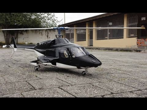 New version Full custom Airwolf 500size RC Heli Test flight - YouTube