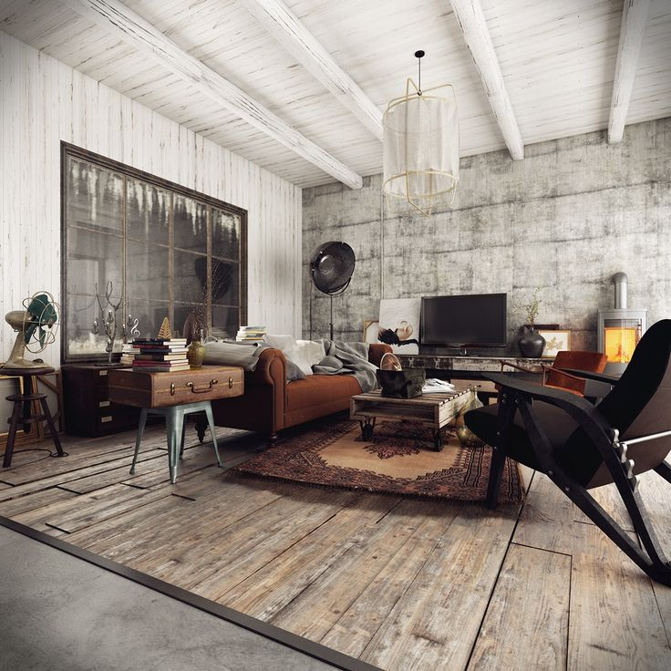 The Living Room Of A Rustic Home With An Industrial Flavour 1240x1240