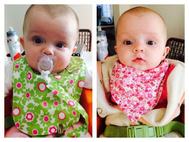 DIY Baby bibs & matching dummy clips.