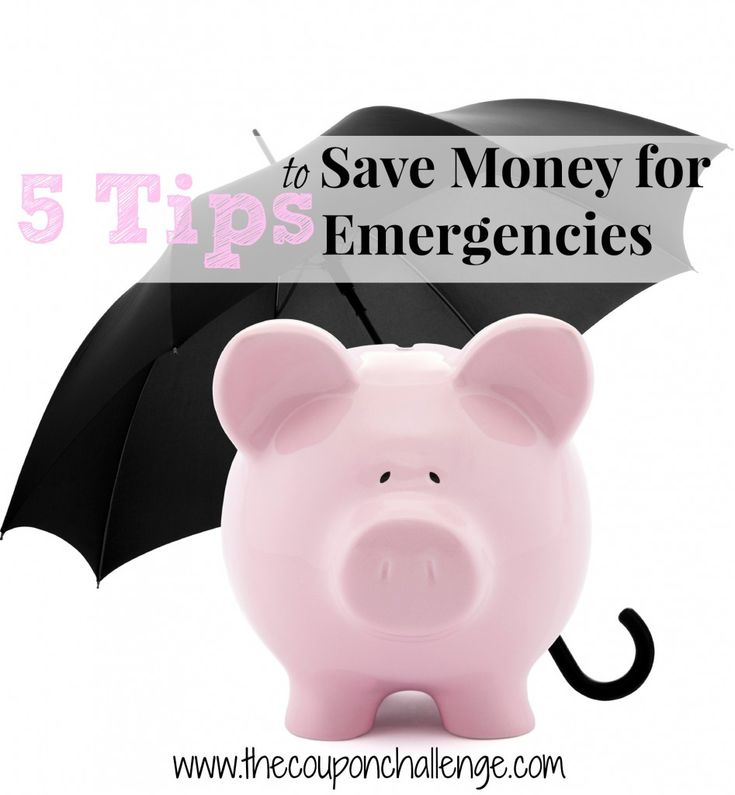 Don't let an unexpected event put you in debt or distract you from your financial goals.  Read 5 tips for Saving Money on Emergencies.  Don't let Murphy stop you!: Money Saving Tips, Budget Families Money, Save Money, Saving Money, Financial Money,  Pennies Banks, Money Wise, Money Money, Money Save Tips