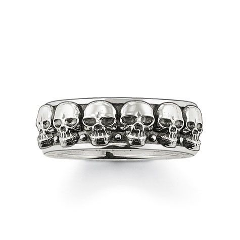 "Thomas Sabo ring ""skull"". Size 64. $169."
