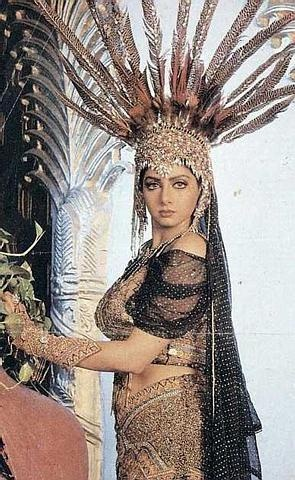 Sridevi, noted for her quirky roles in Bollywood.