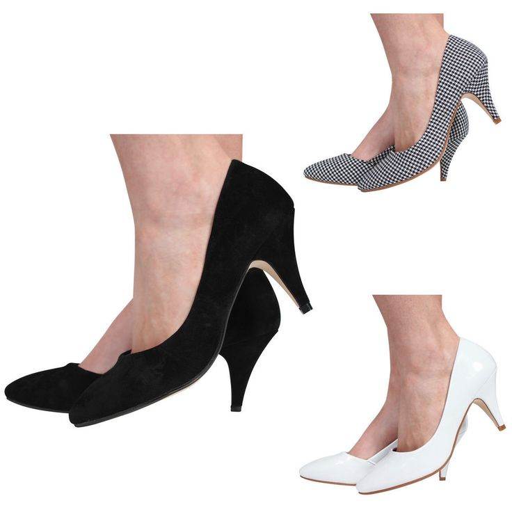 WOMENS LADIES LOW MID HIGH HEEL POINTED TOE PUMPS SMART WORK COURT SHOES #FOLLOWMEUK #CourtShoes