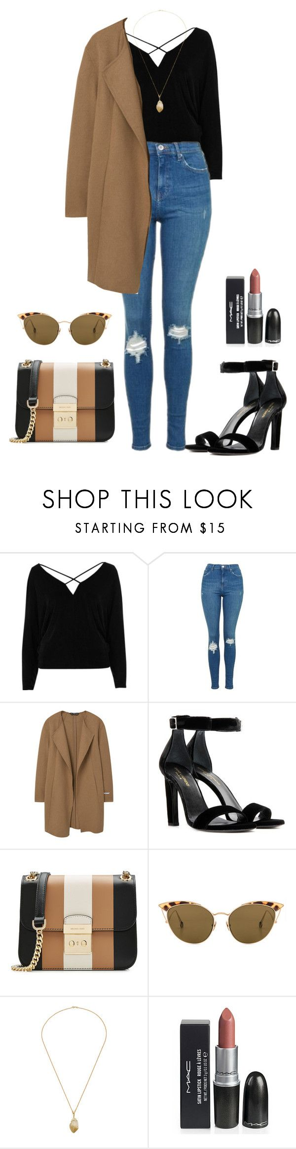 """""""06/28/17"""" by mery-santiago ❤ liked on Polyvore featuring River Island, Topshop, MANGO, Yves Saint Laurent, MICHAEL Michael Kors and Ahlem"""
