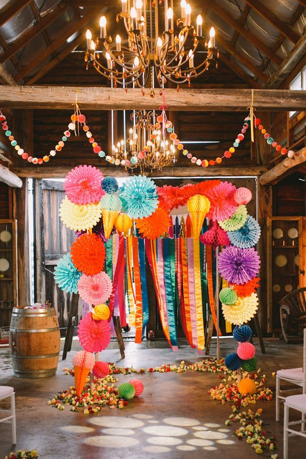 53 Super Creative Wedding Photo Backdrops Mexican Party DecorationsHoneycomb