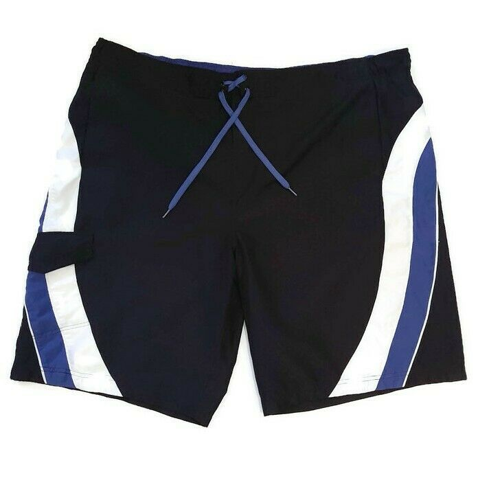 Sportek Swim Trunks Mens Size 2xl Black Blue White Striped Board Shorts Pockets Ebay In 2020 Swim Trunks Board Shorts Menswear Discover va sport mens workout shorts collection. pinterest