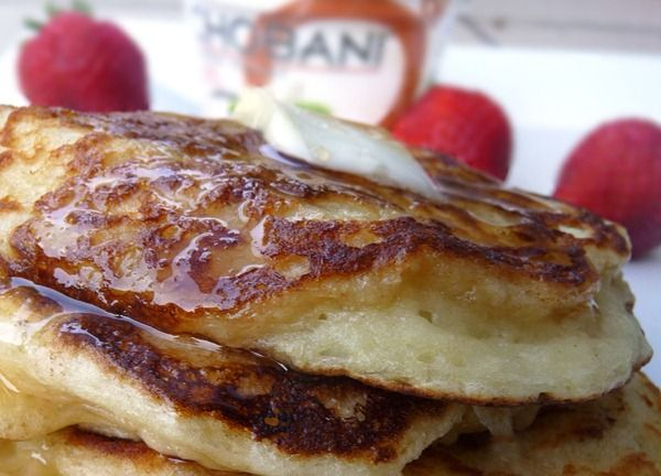 Greek Yogurt Pancakes. Four ingredients!