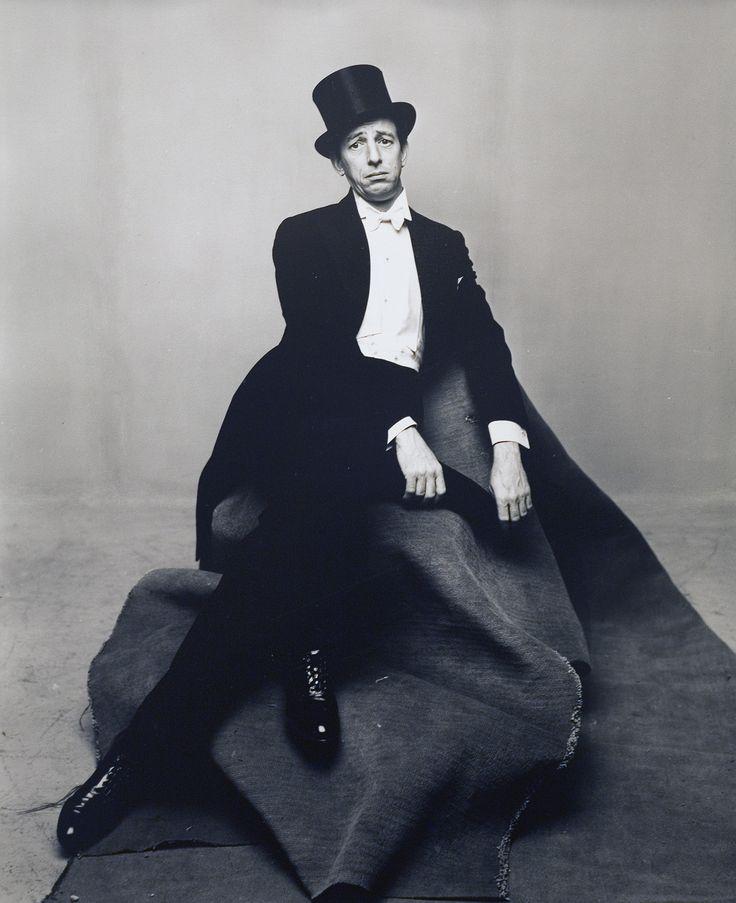 Irving Penn - Portrait, Ray Bolger, Version B, New York, 1947, for Vogue Magazine.