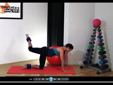 ANKLE WEIGHT WORKOUT - Best Glutes Butt Workout - Ankle Weight Butt Sculpter BARLATES BODY BLITZ - YouTube